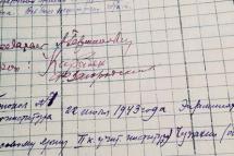 Страница выписки о сдаче государственных экзаменов студентов объединенного Крымского и Дагестанского институтов с автографами крымских преподавателей