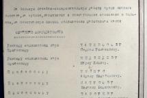 Выписка из приказа об объявлении благодарностей за «большую лечебно-оздоровительную работу» сотрудникам Крымского медицинского института. Ноябрь 1943 г.